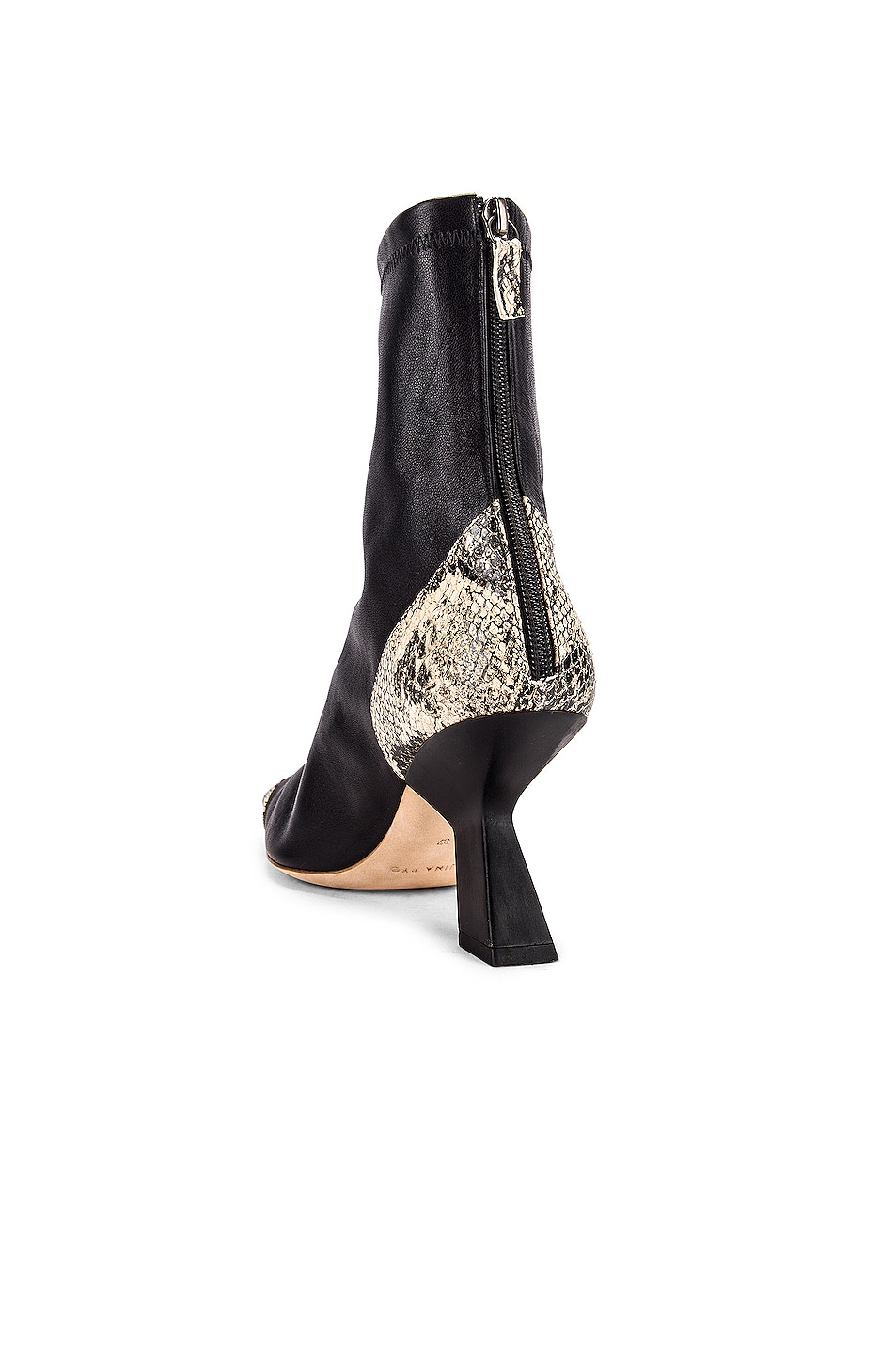 Image 3 of REJINA PYO Marley 80 Boot in Black & Boa Beige