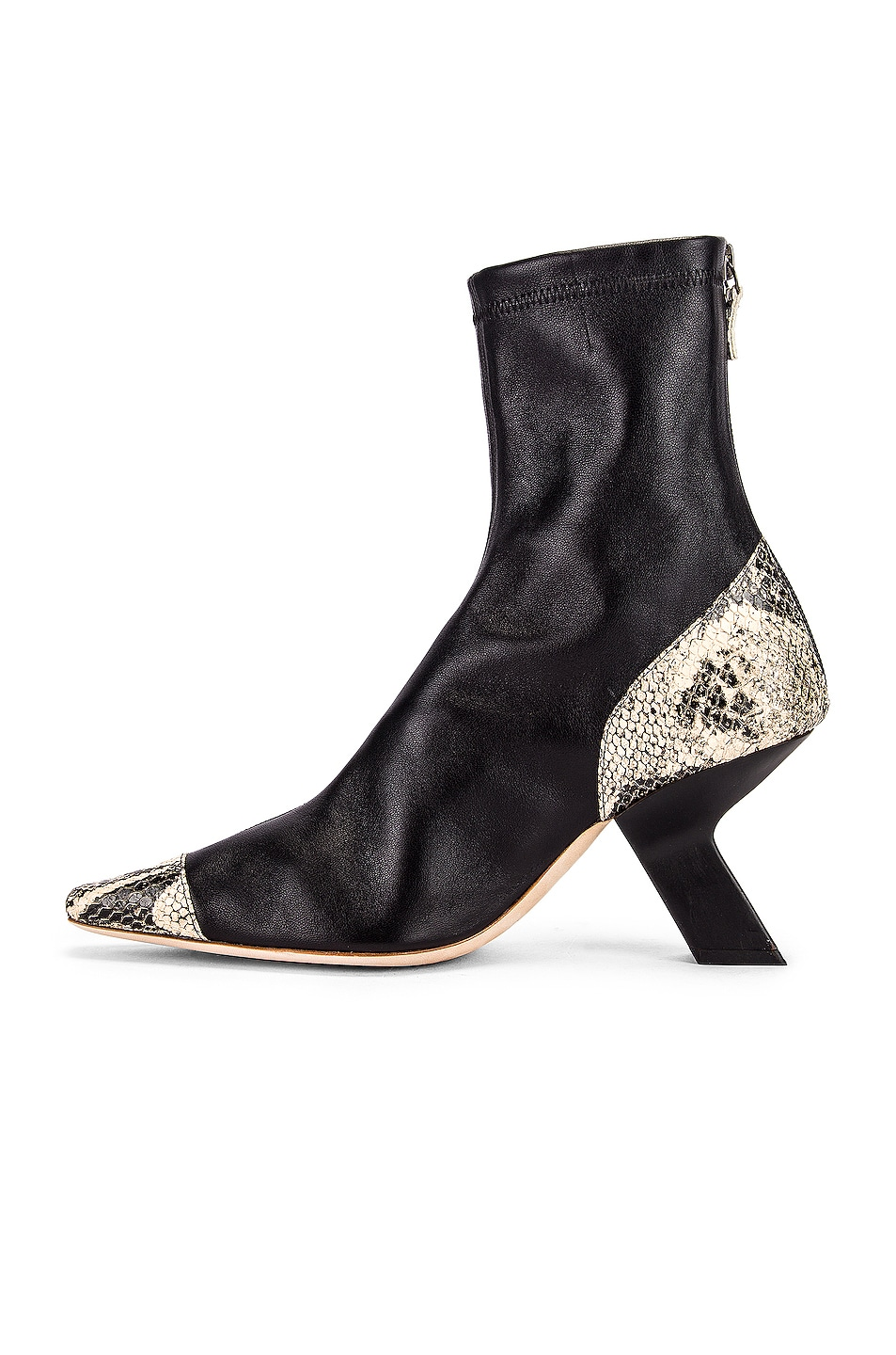 Image 5 of REJINA PYO Marley 80 Boot in Black & Boa Beige