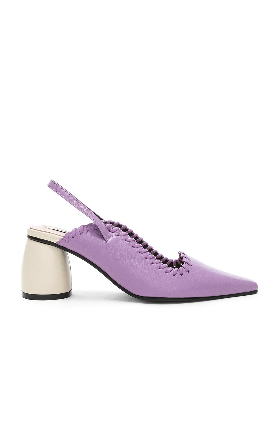 d645a4934dc Image 1 of Reike Nen Curved Middle Slingback in Purple   Ivory