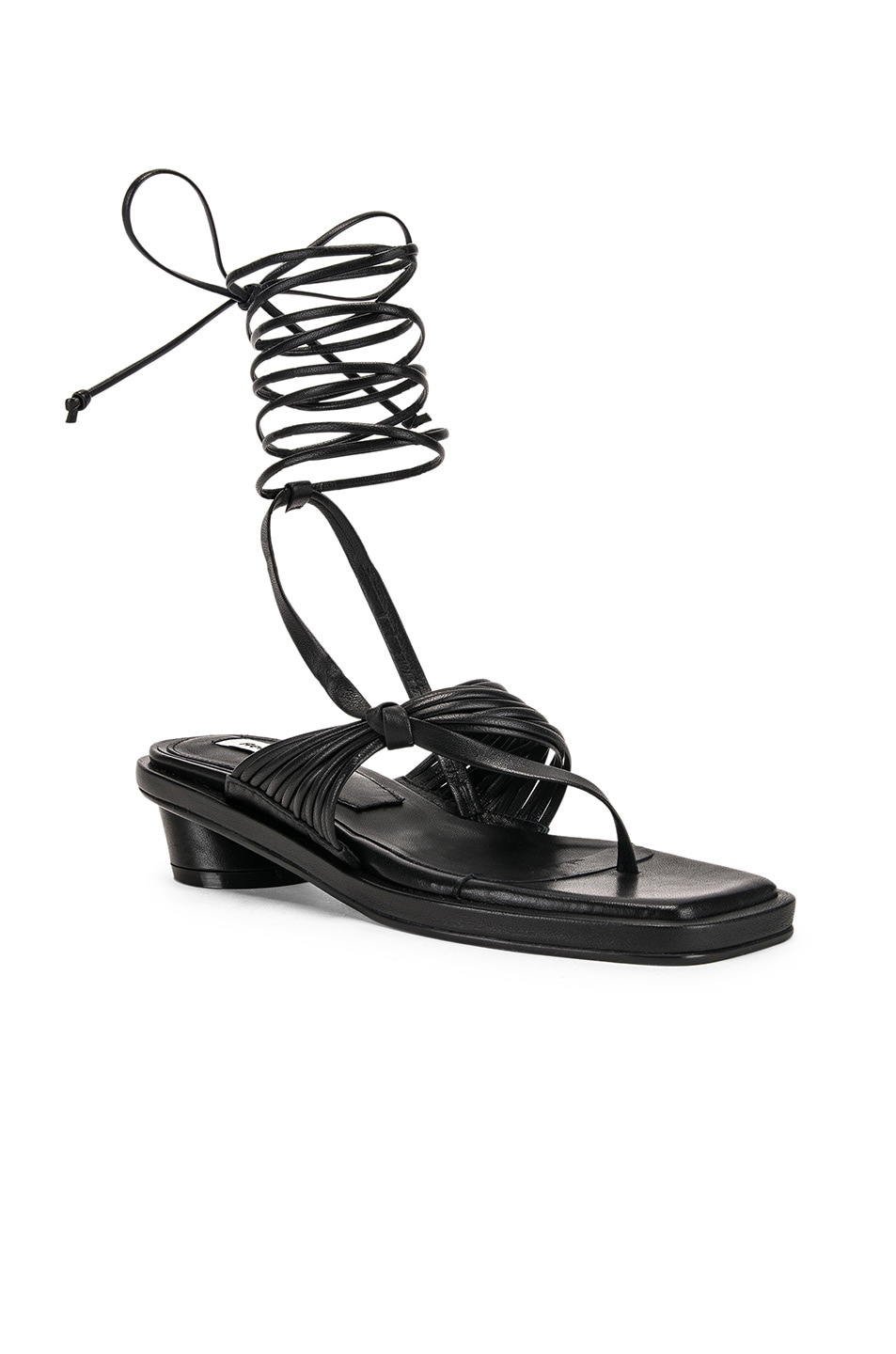 Image 3 of Reike Nen Unbalanced String Sandal in Black