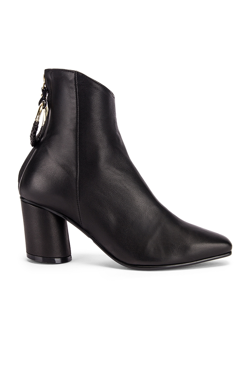 Image 1 of Reike Nen Oblique Turnover Ring Boots in Black