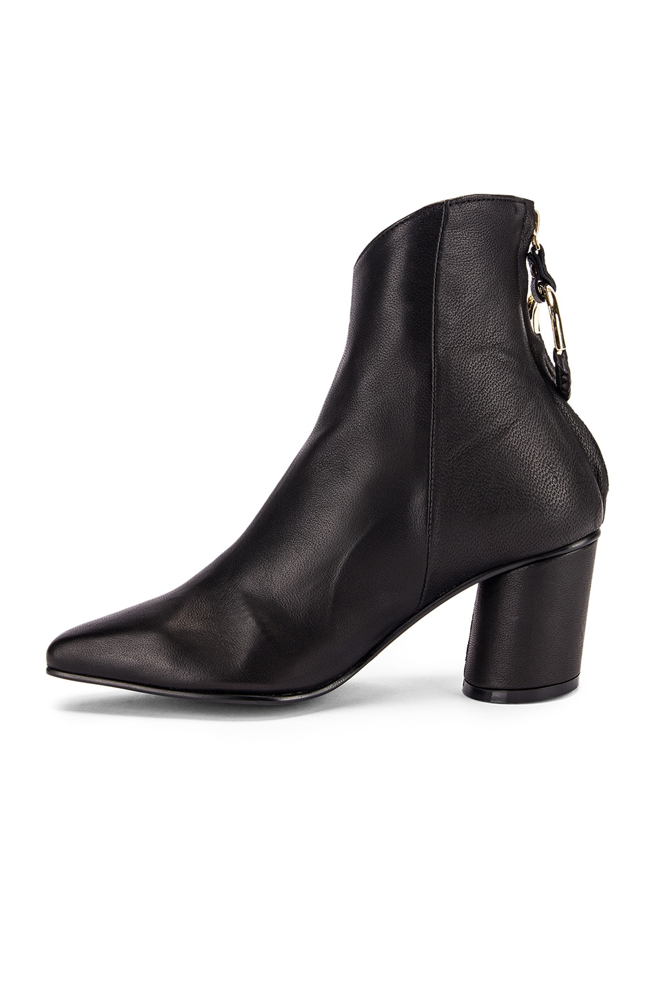 Image 5 of Reike Nen Oblique Turnover Ring Boots in Black