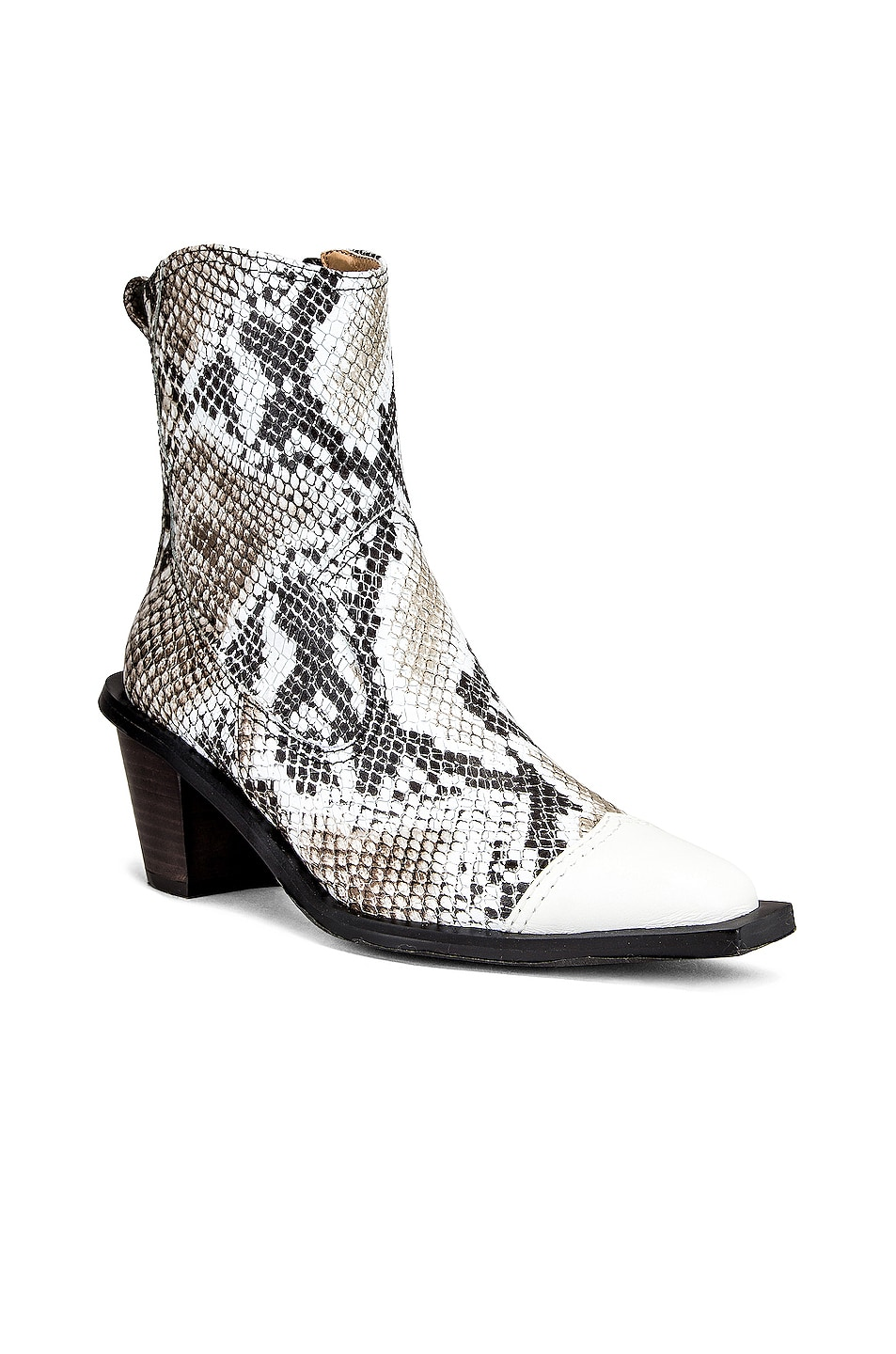 Image 2 of Reike Nen Western Wave Boots in White & Python