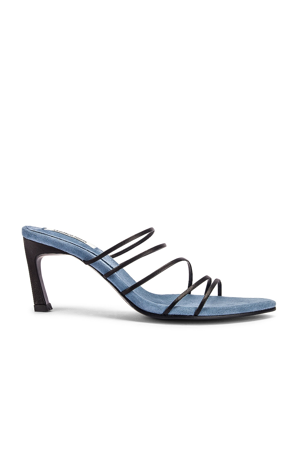 Image 1 of Reike Nen Strings Pointed Heels in Black & Water Blue