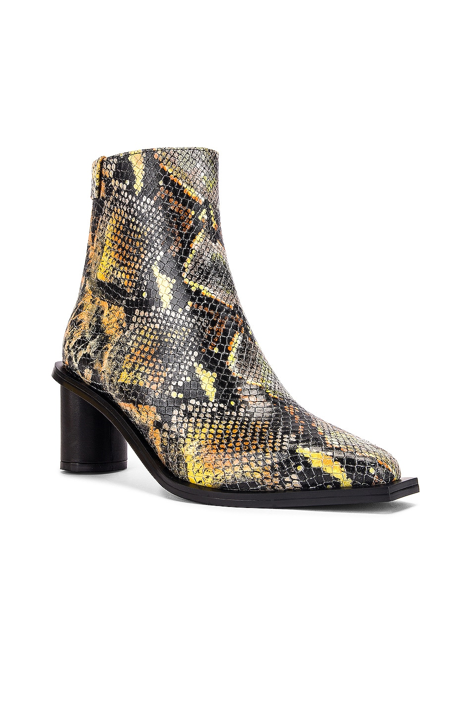 Image 2 of Reike Nen Oval Heel Ankle Boots in Orange Multicolor