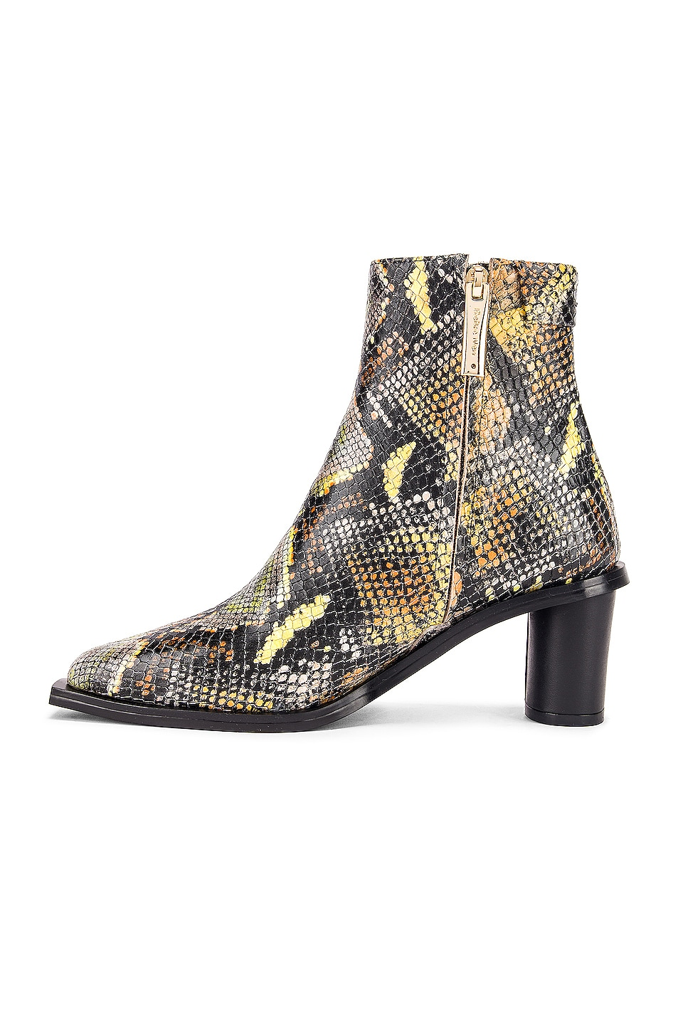 Image 5 of Reike Nen Oval Heel Ankle Boots in Orange Multicolor