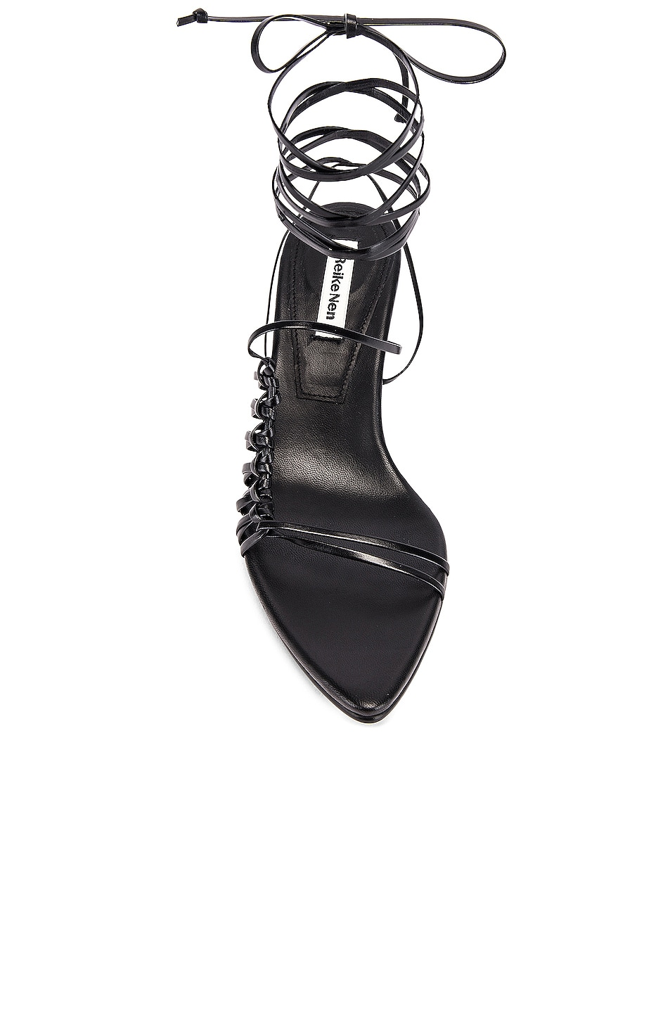 Image 4 of Reike Nen Knot Pointed Sandals in Black