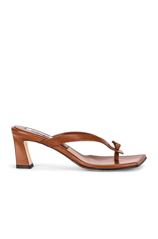 Image 1 of Reike Nen Flip-Flop Heels in Brown