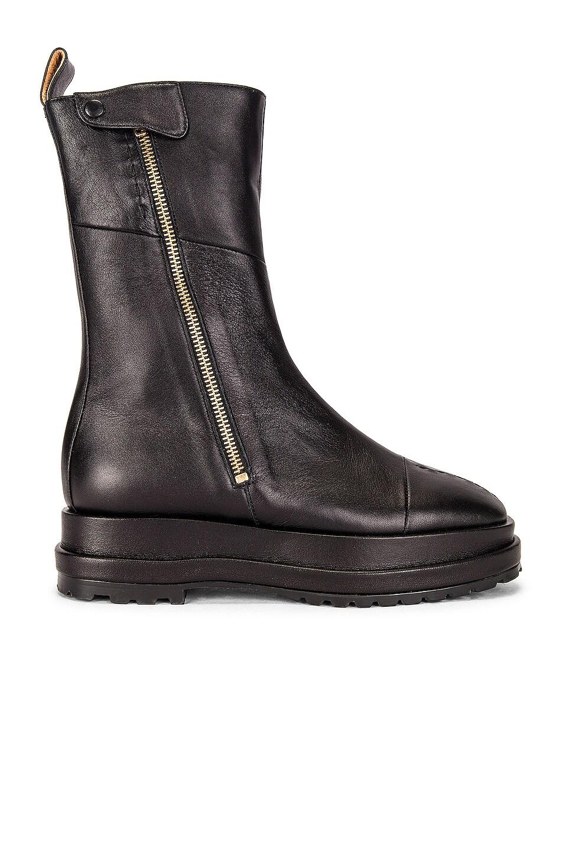 Image 1 of Reike Nen Platform Zip-Up Boot in Black