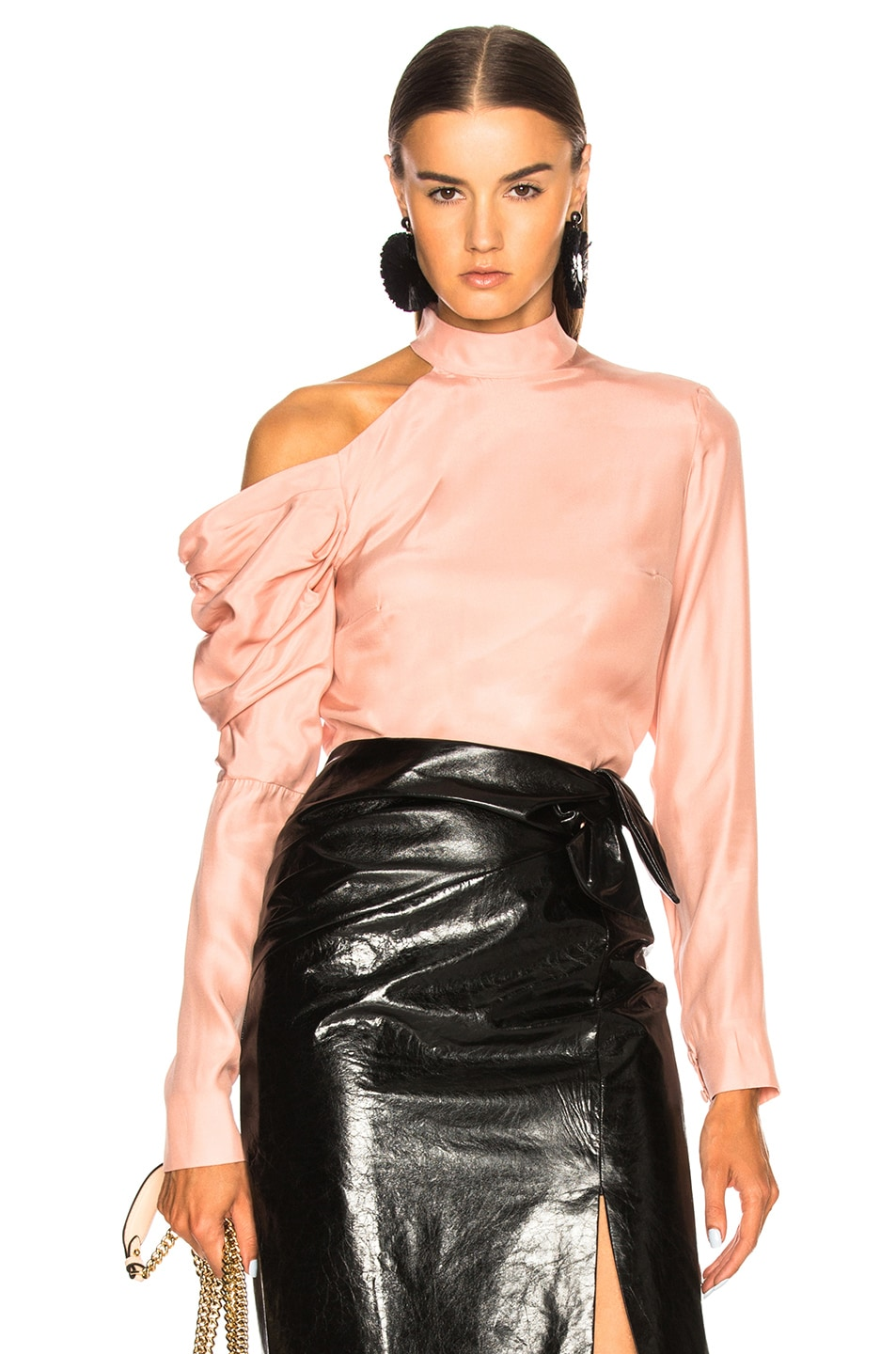 RAQUEL DINIZ Lauren Top in Pink