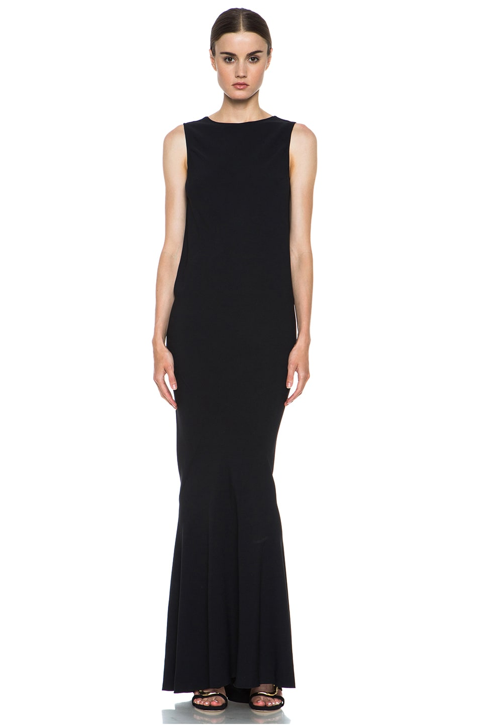 Image 1 of ROCHAS Low-Back Gown in Black