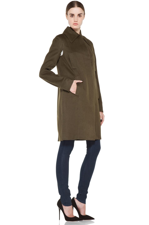 Image 4 of ROCHAS Coat in Olive