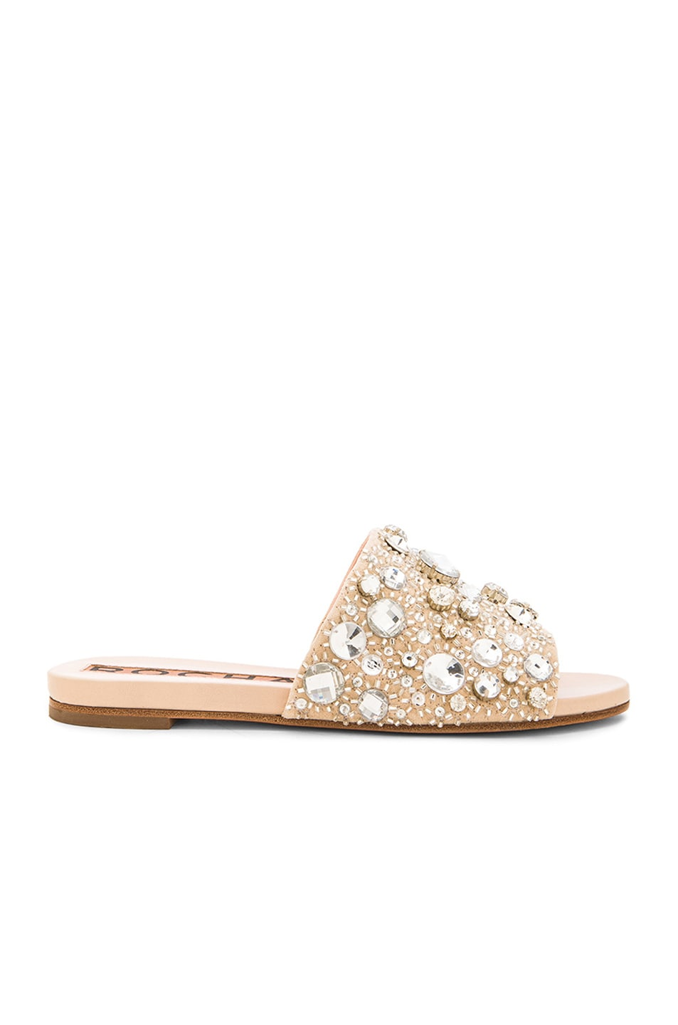 cheap sale fast delivery Rochas crystal logo slides cheap store 4suvwLrn