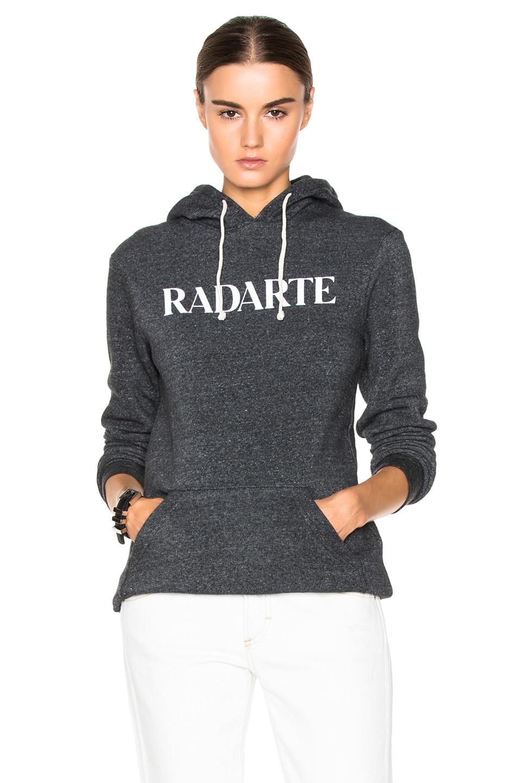 Image 1 of Rodarte Radarte Poly-Blend Hoodie in Black Heather