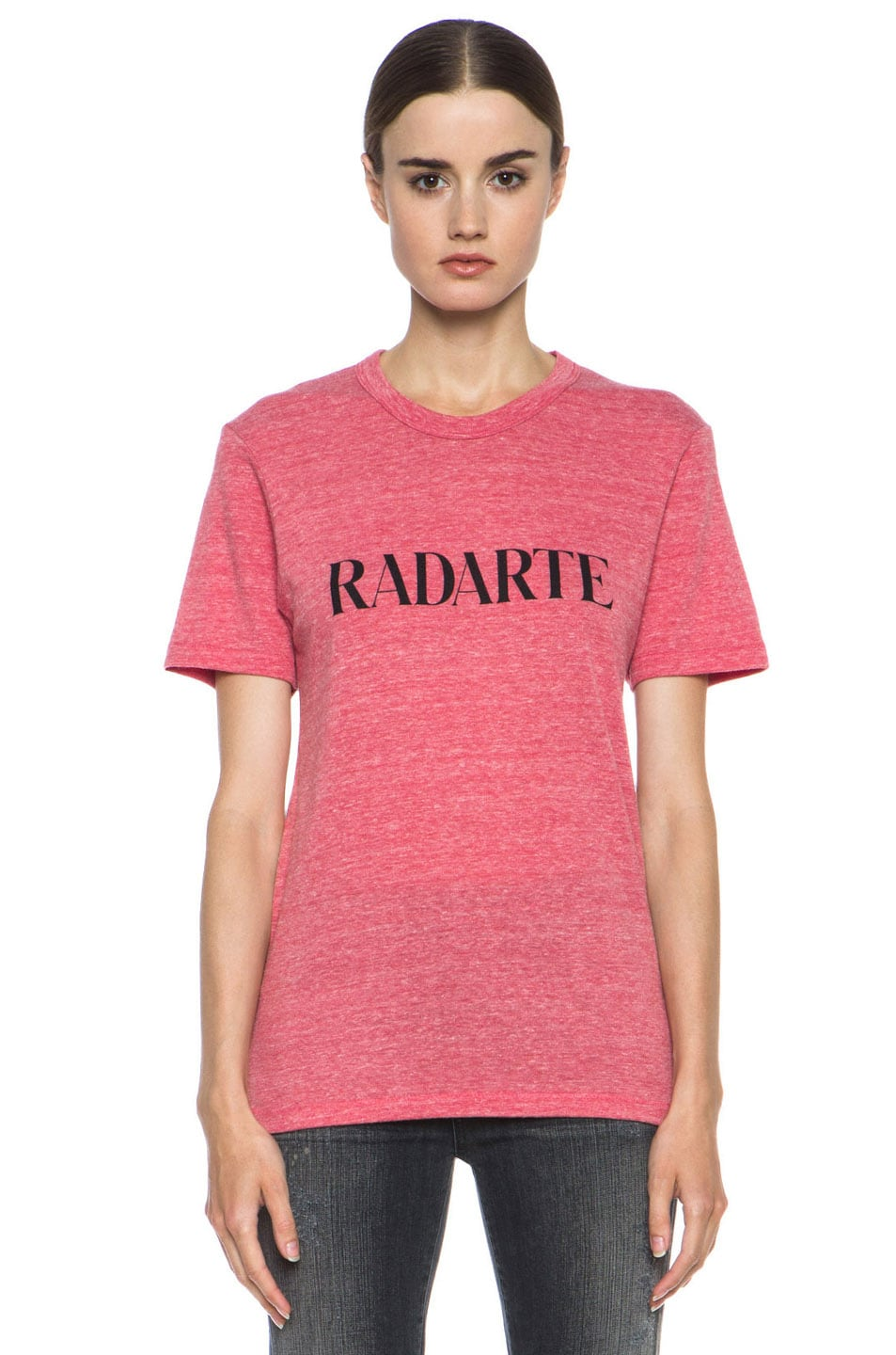Image 1 of Rodarte Radarte Poly-Blend Shirt in Red