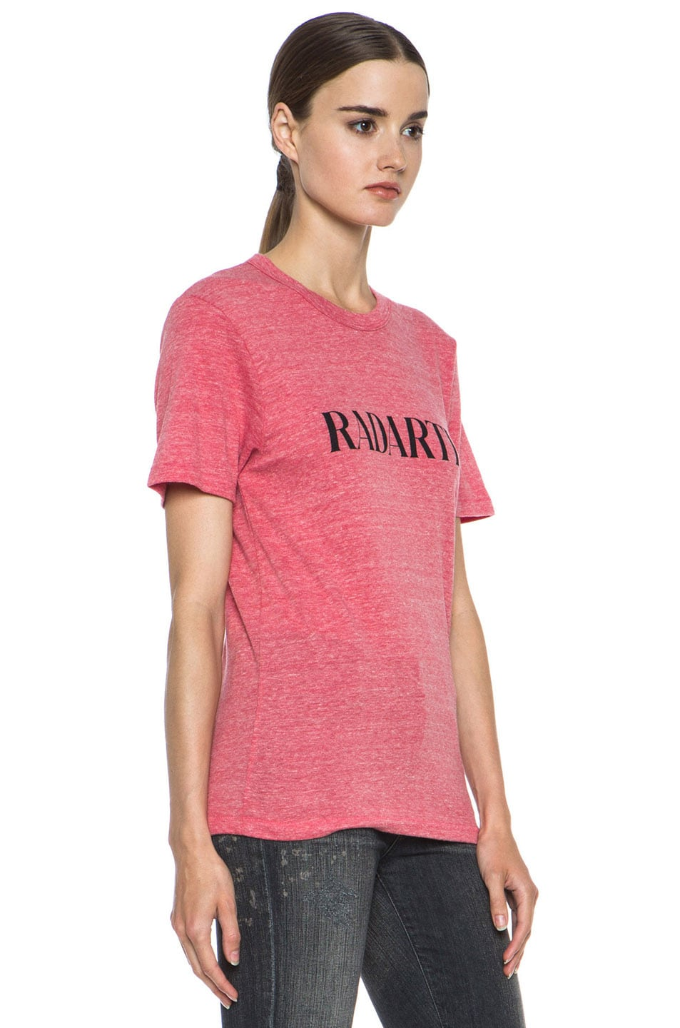 Image 3 of Rodarte Radarte Poly-Blend Shirt in Red