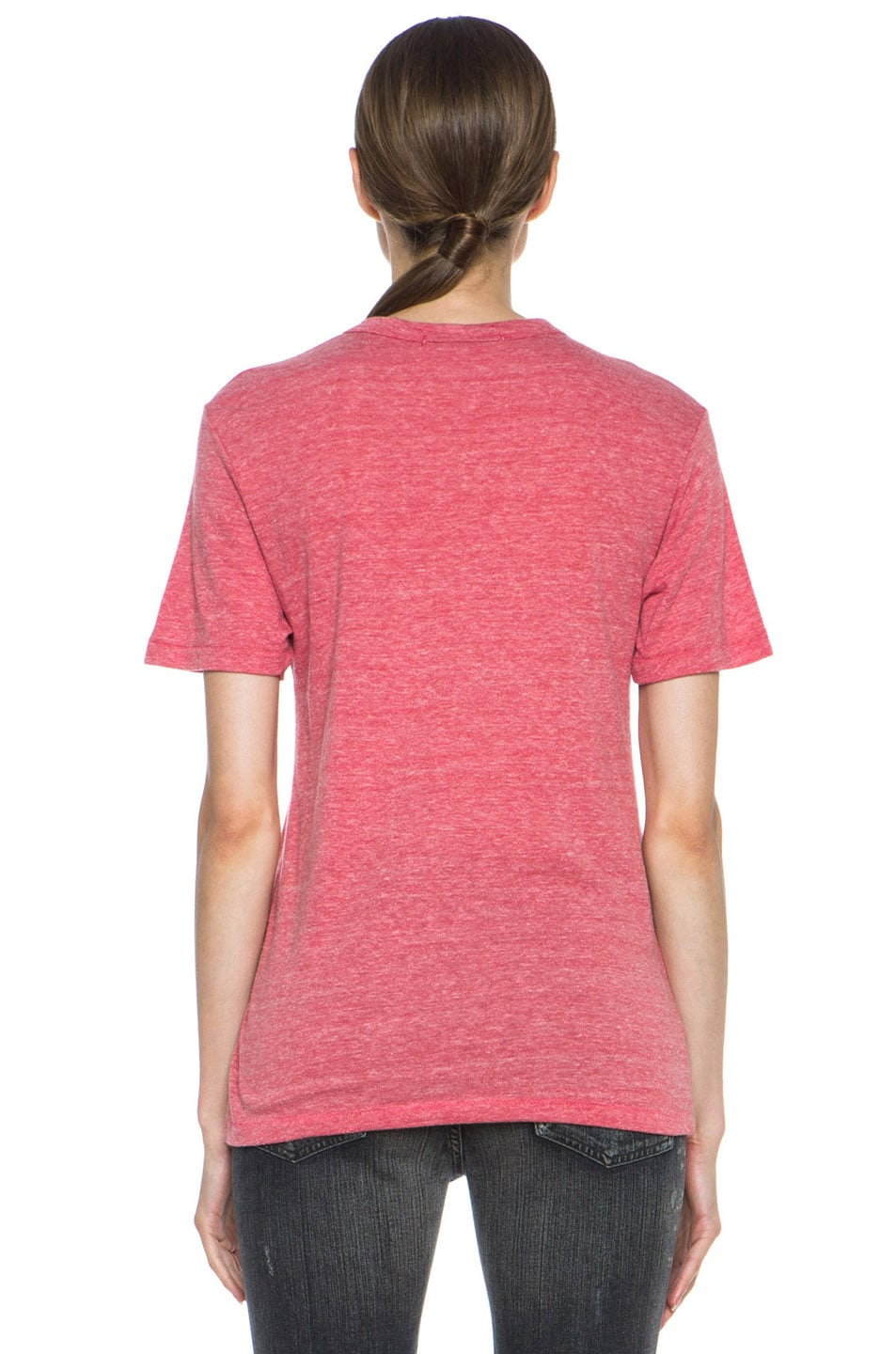 Image 4 of Rodarte Radarte Poly-Blend Shirt in Red