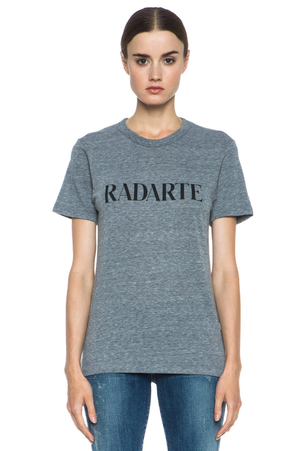 Image 1 of Rodarte Radarte Poly-Blend Shirt in Heather Grey