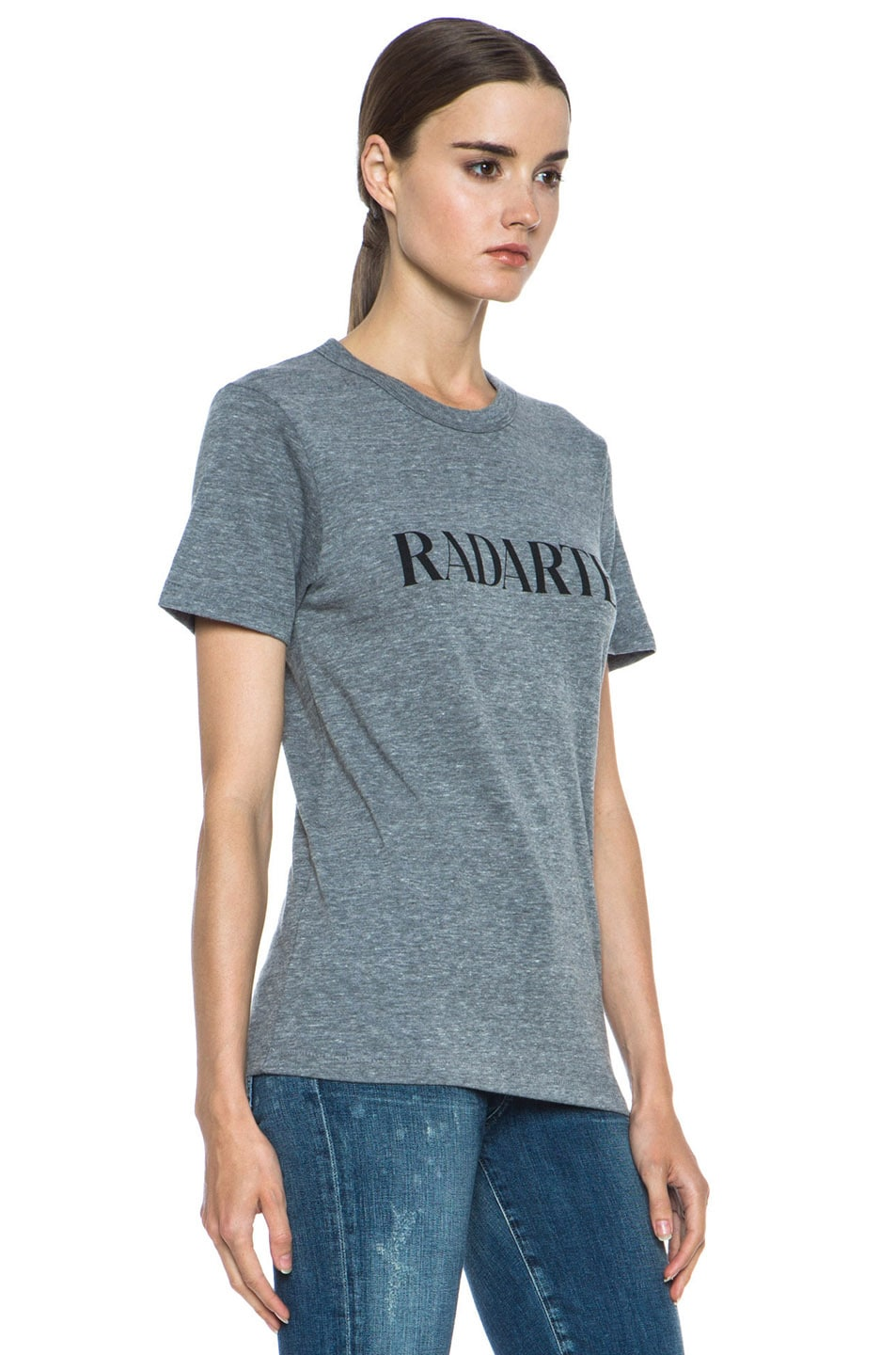 Image 3 of Rodarte Radarte Poly-Blend Shirt in Heather Grey