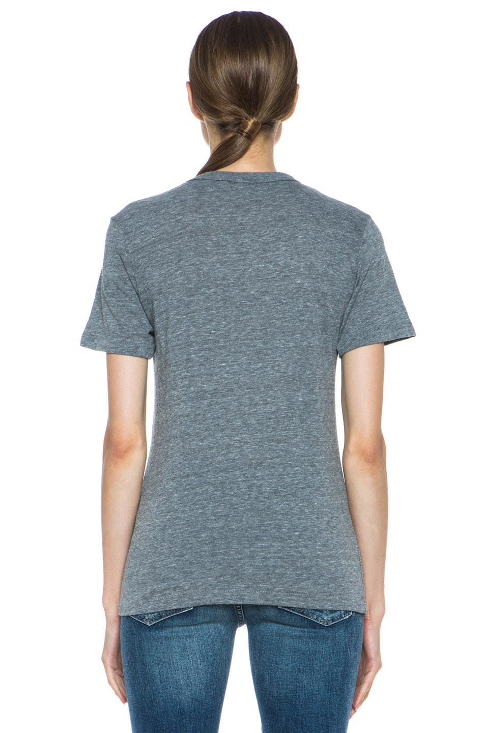 Image 4 of Rodarte Radarte Poly-Blend Shirt in Heather Grey