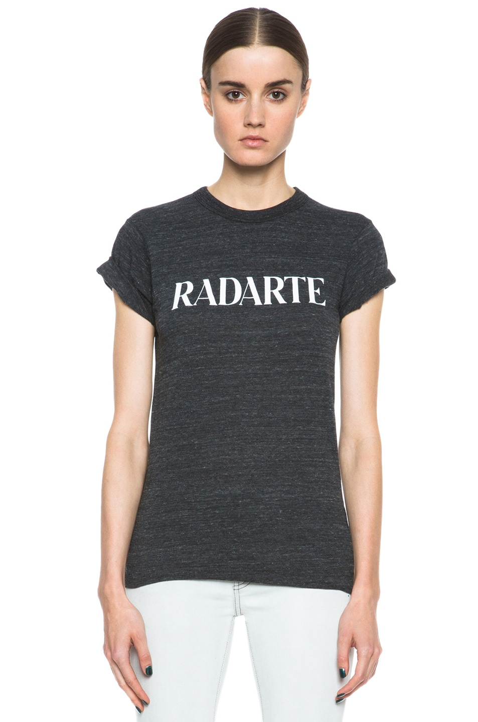 Image 1 of Rodarte Radarte Poly-Blend Shirt in Black Heather