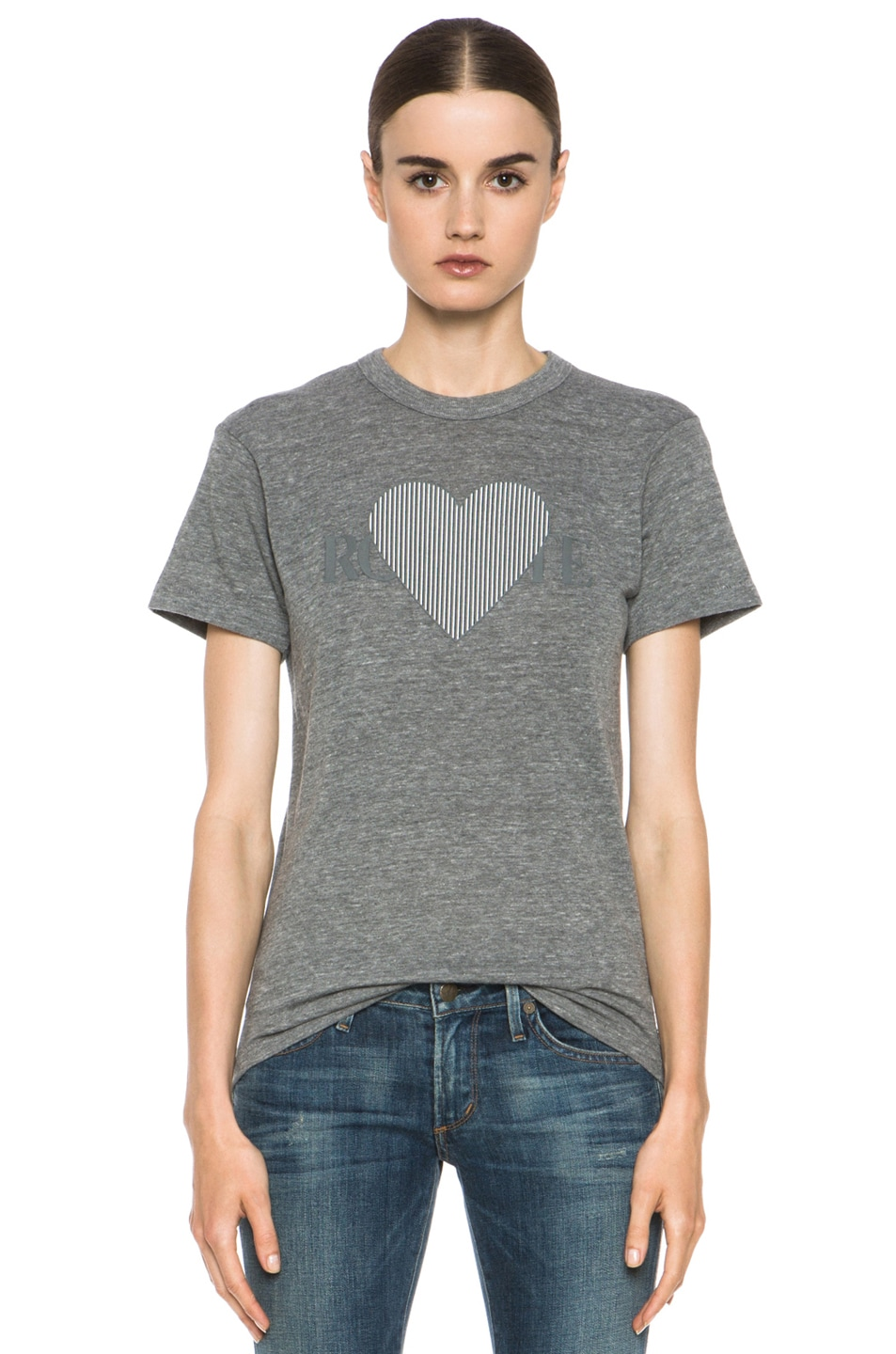 Image 1 of Rodarte 3D-Rodarte Poly-Blend Heart Tee in Grey