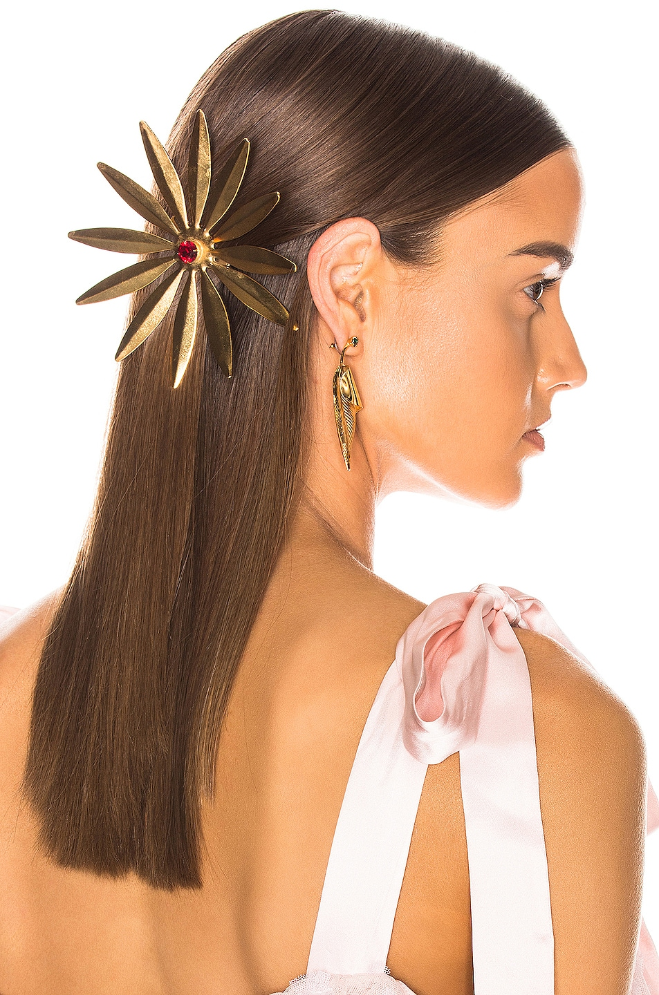 Image 2 of Rodarte Daisy Barrette in Gold
