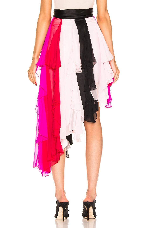 Image 4 of Rodarte Asymetrical Silk Chiffon Skirt in Multi