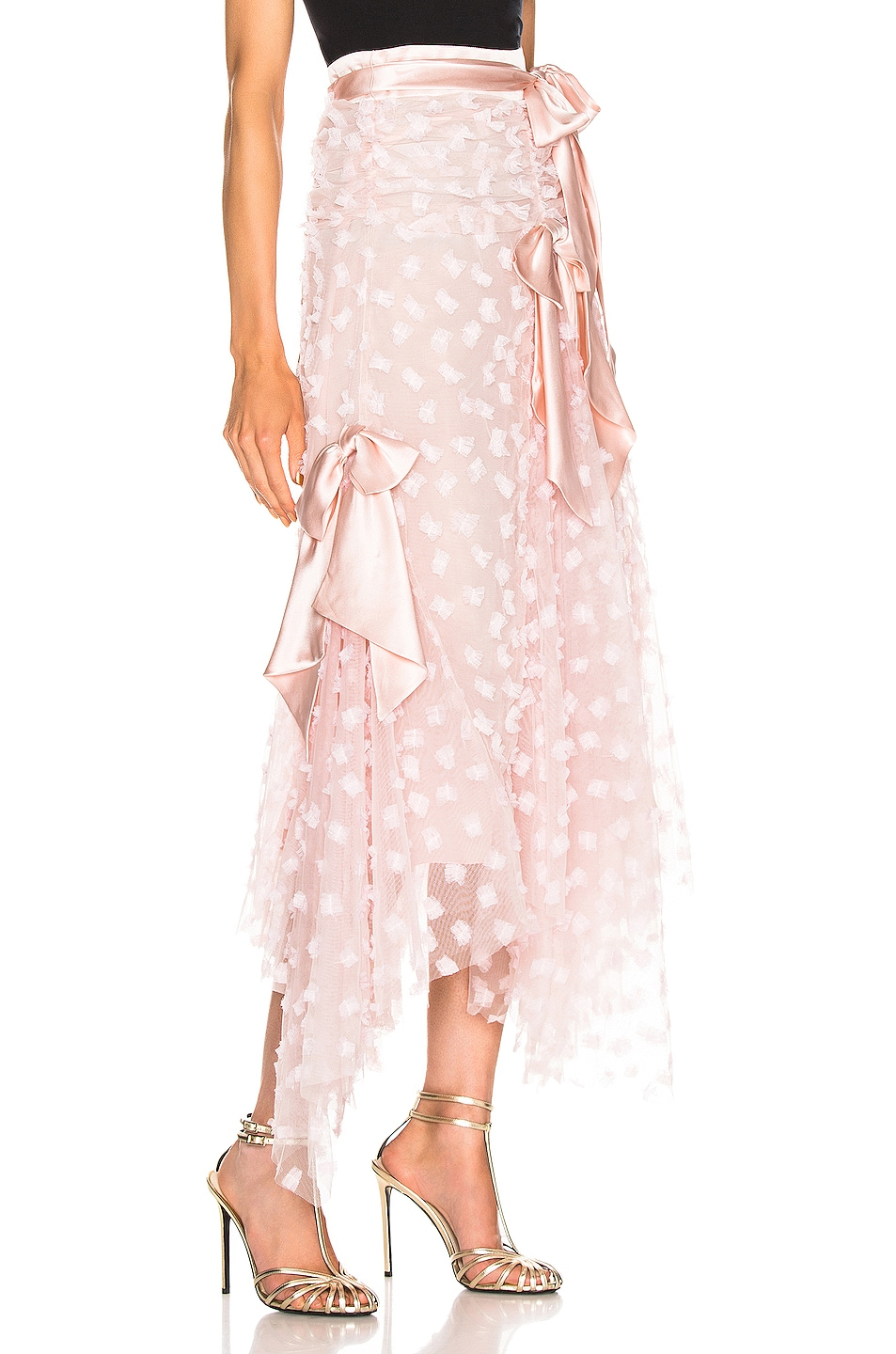 Image 2 of Rodarte Embroidered Bow Skirt in Pink