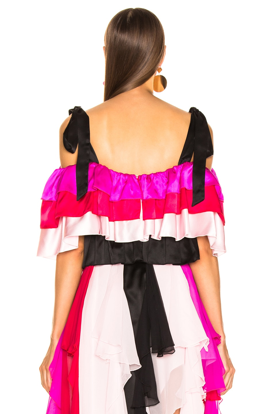 Image 3 of Rodarte Tiered Off the Shoulder Blouse in Multi