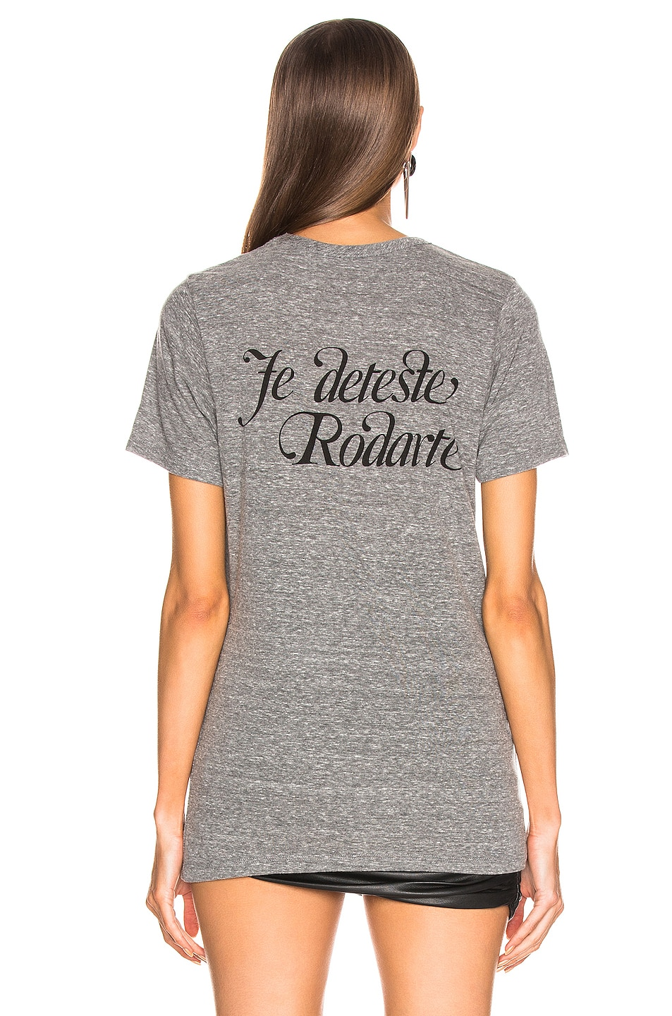 Image 3 of Rodarte Love Hate Script T Shirt in Heather Grey & Black