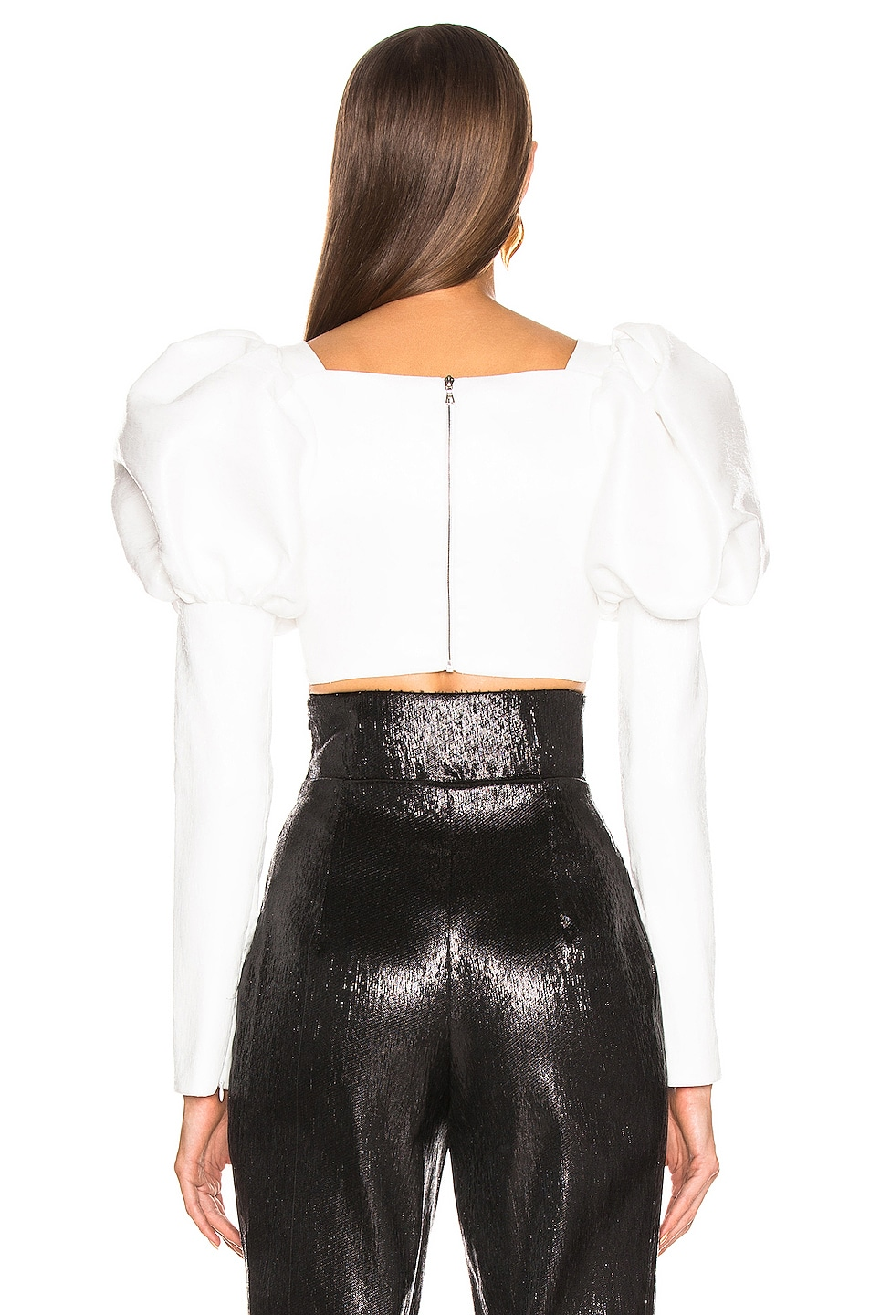 Image 3 of Rodarte Cropped Bustier Bow Top in White