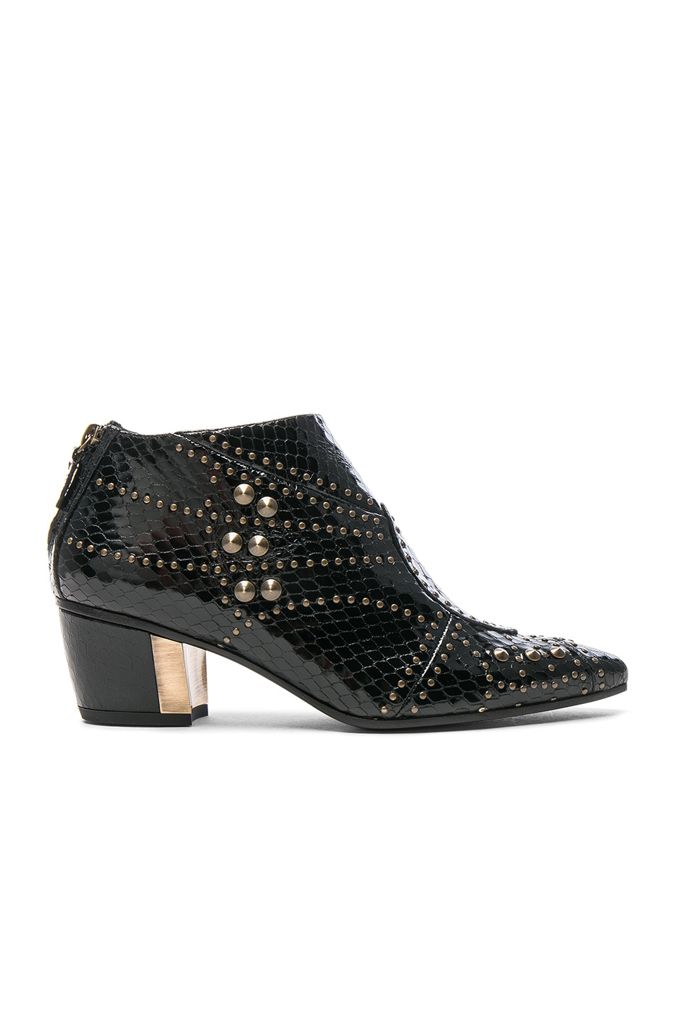 Image 1 of Rodarte for FWRD Embossed Studded Leather Booties in Black
