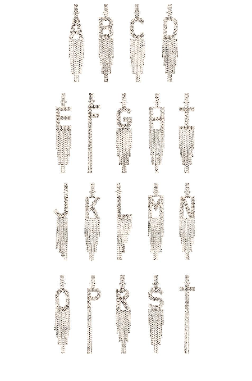 Image 1 of retrofete Alphabet Earring in Silver