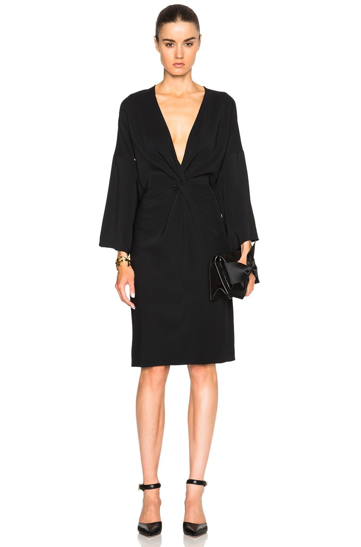 Image 1 of Rosetta Getty Kimono Twist Dress in Black