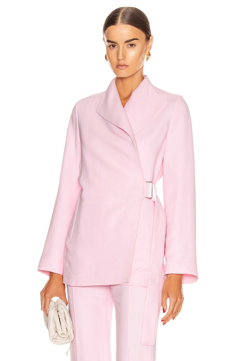 Image 1 of Rosetta Getty Belted Panel Jacket in Quartz
