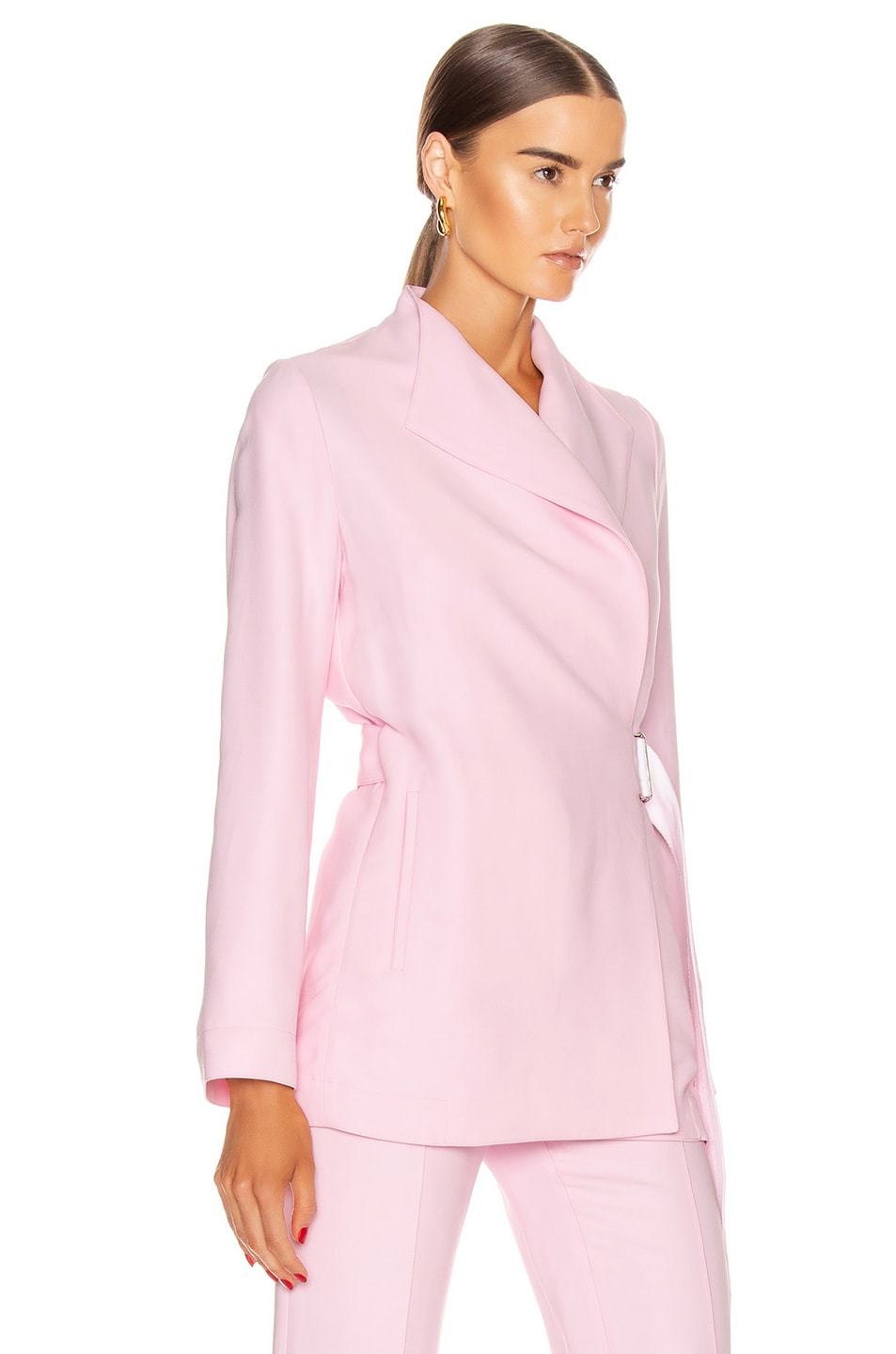 Image 2 of Rosetta Getty Belted Panel Jacket in Quartz