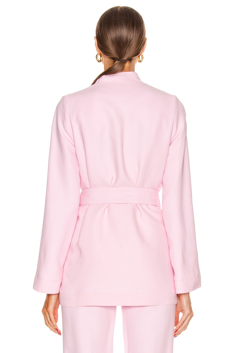 Image 4 of Rosetta Getty Belted Panel Jacket in Quartz