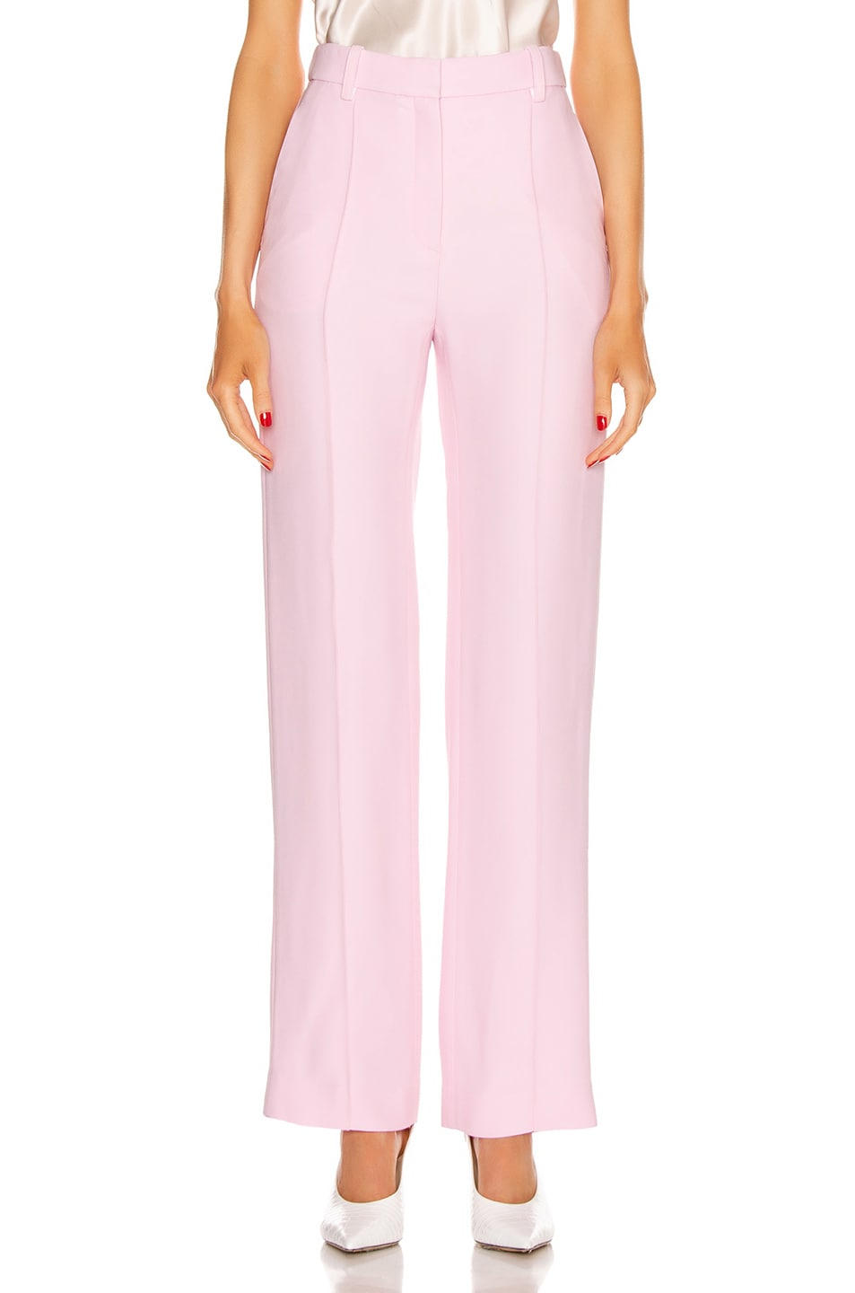 Image 1 of Rosetta Getty Pintuck Straight Trouser in Quartz