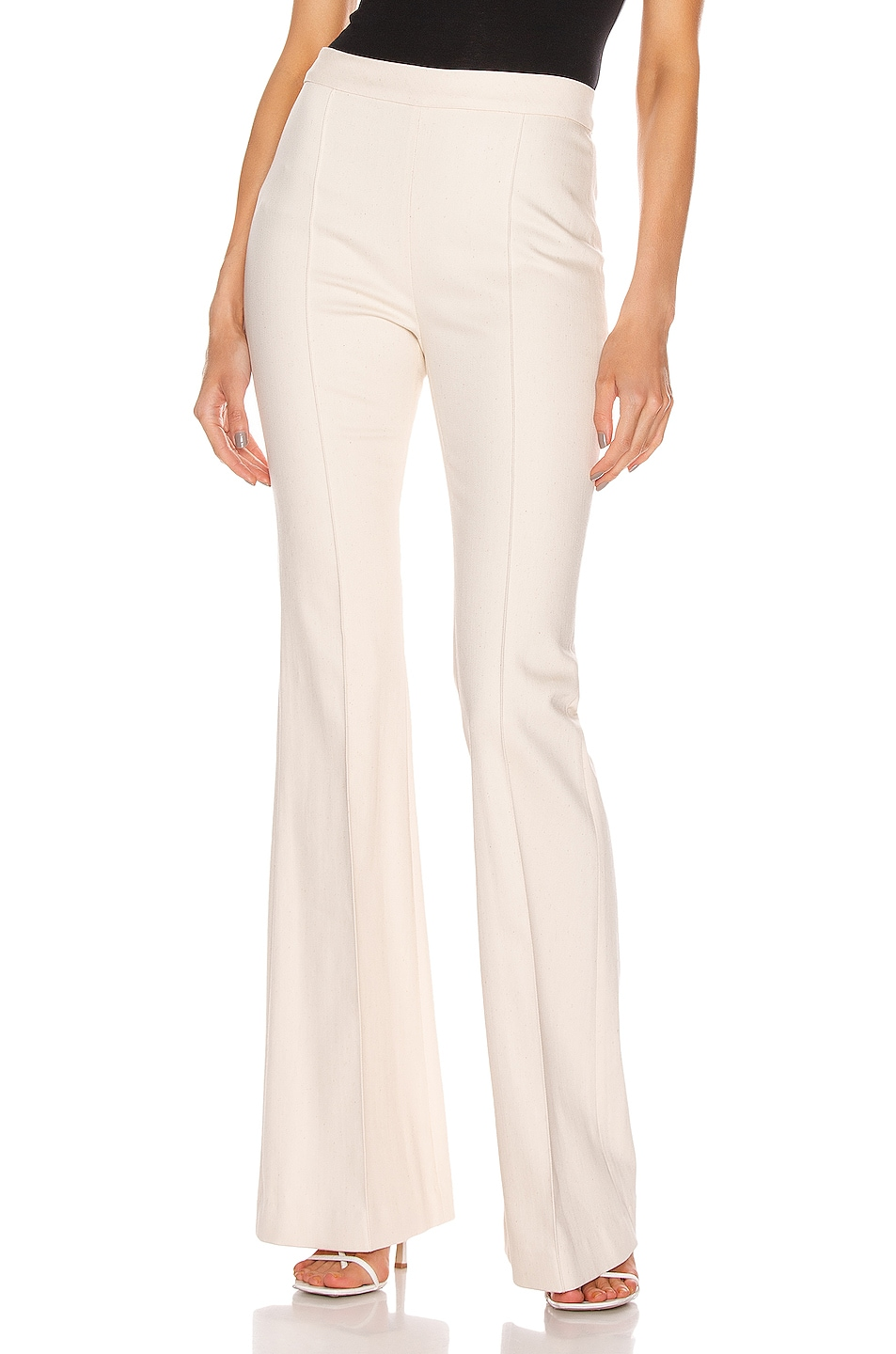 Image 1 of Rosetta Getty Pintuck Flared Pant in Natural