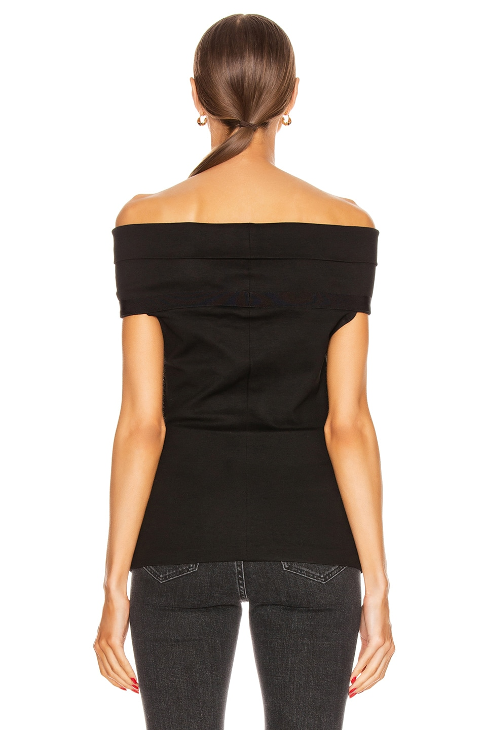 Image 3 of Rosetta Getty Banded Off the Shoulder Top in Black