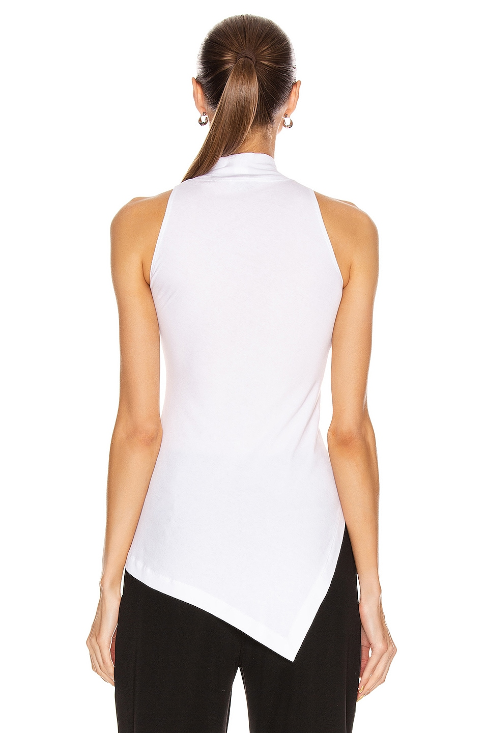 Image 4 of Rosetta Getty Sleeveless Paneled Turtleneck Top in White