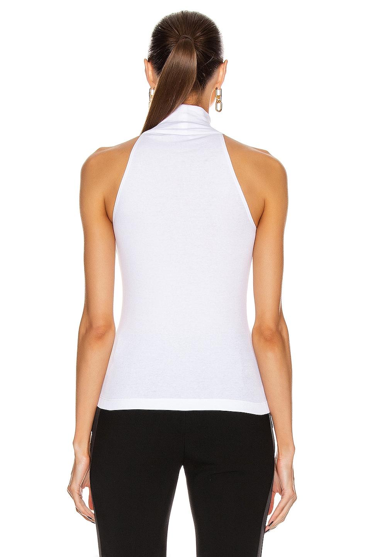 Image 3 of Rosetta Getty Halter T Shirt Top in White