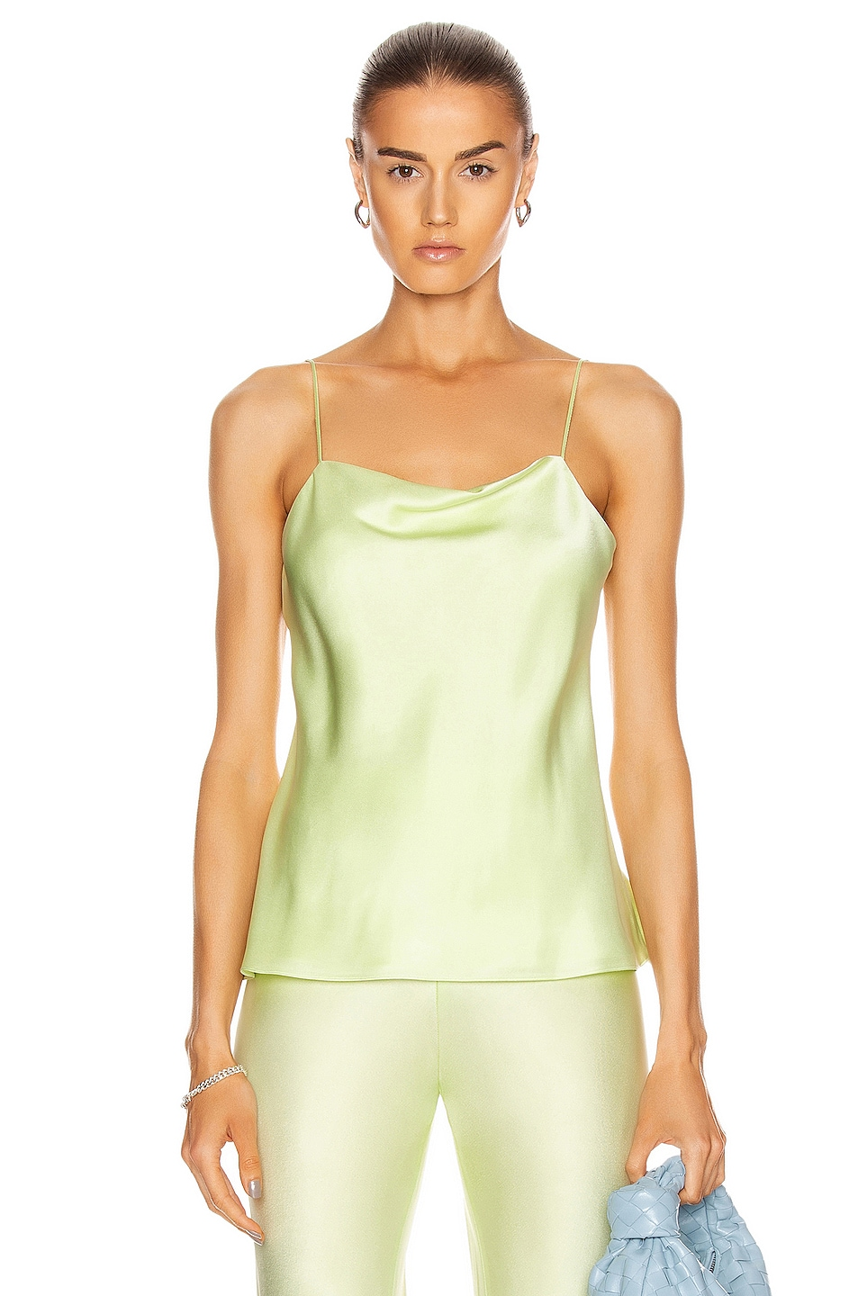 Image 1 of Rosetta Getty Bias Camisole Top in Lime