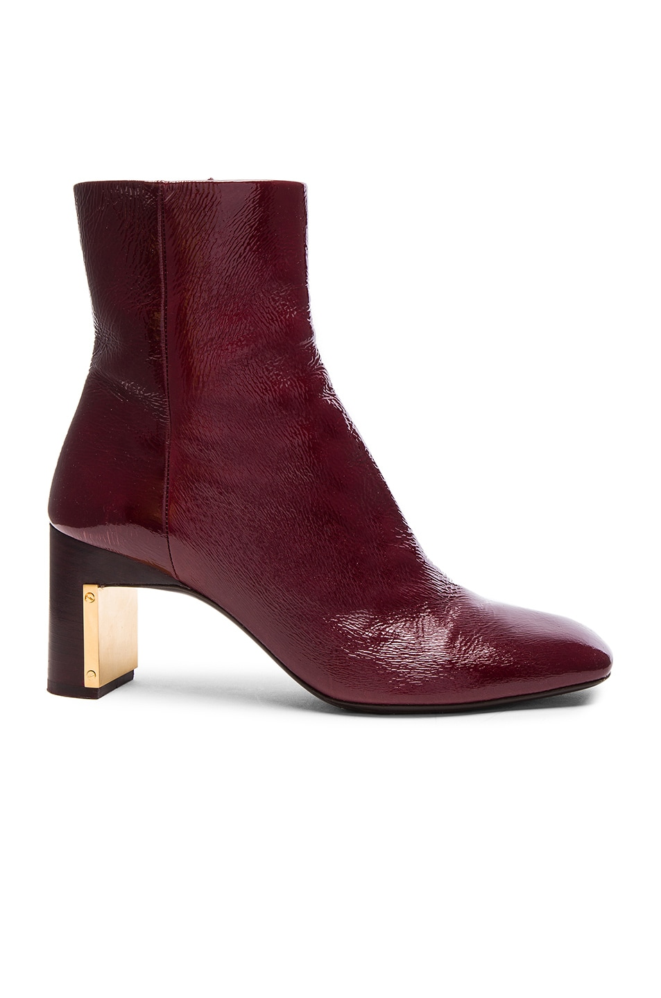 Image 1 of Rosetta Getty Heeled Ankle Bootie in Bordeaux