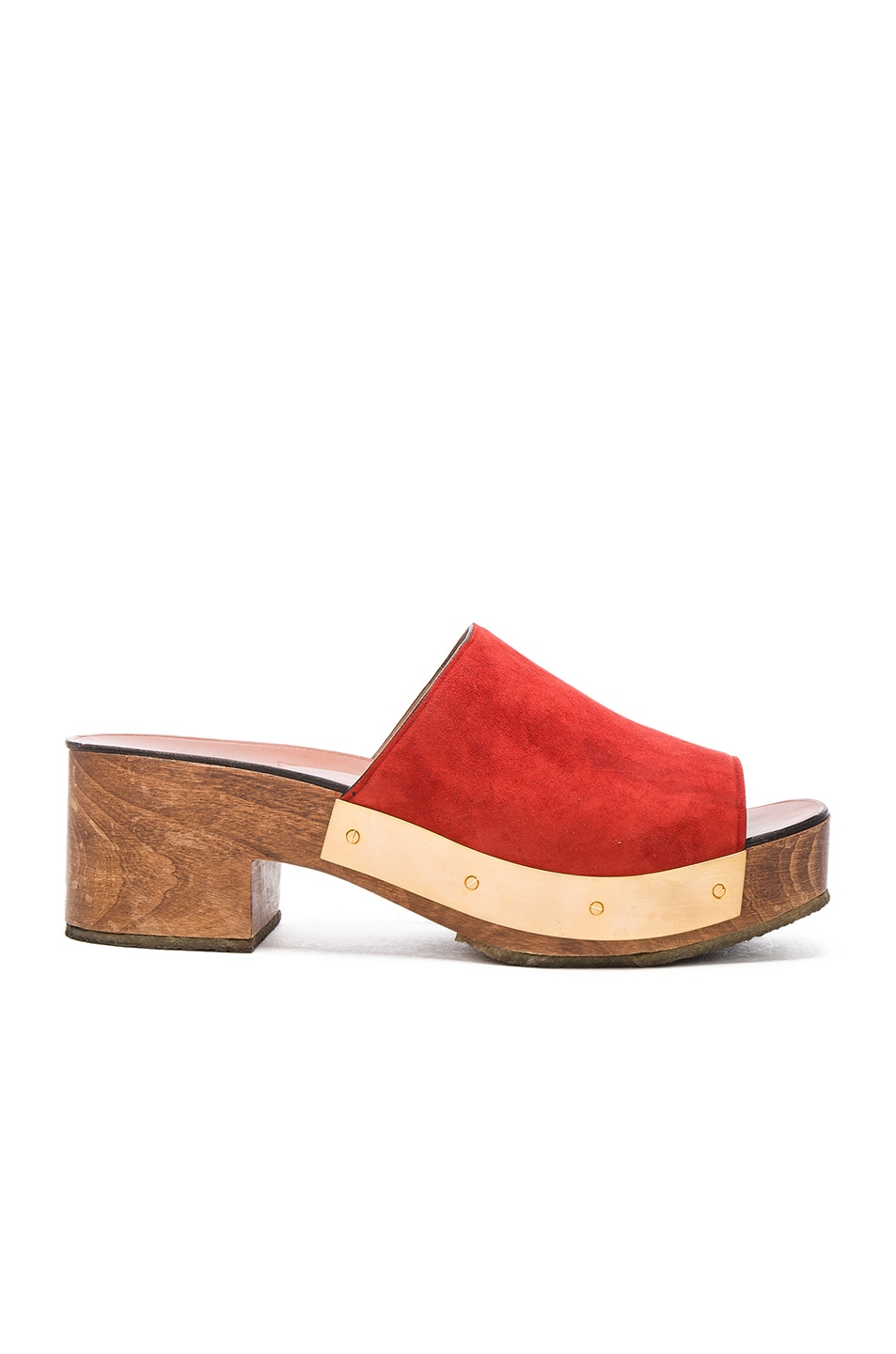 Image 1 of Rosetta Getty Clog in Scarlet