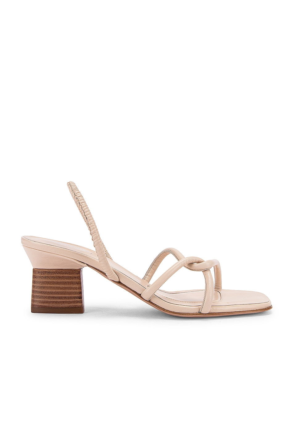 Image 1 of Rosetta Getty Strappy Heeled Slingback Sandals in Parchment