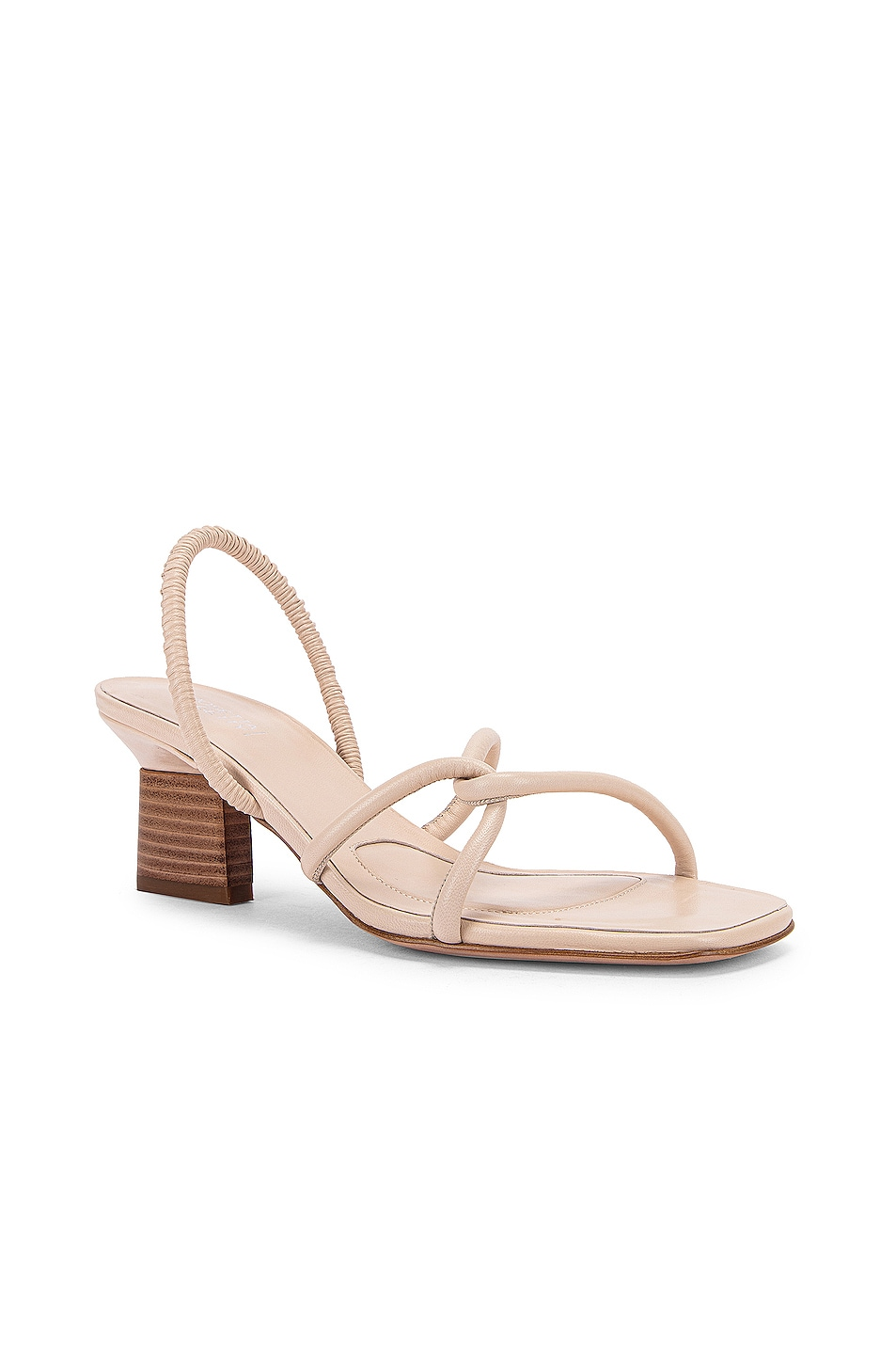 Image 2 of Rosetta Getty Strappy Heeled Slingback Sandals in Parchment