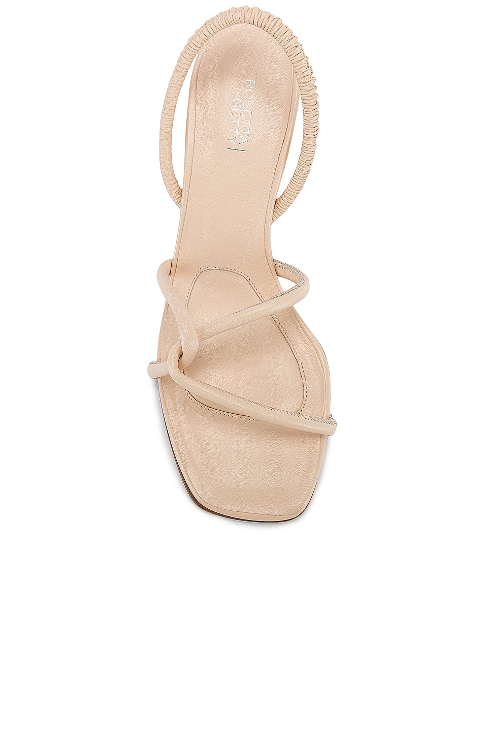 Image 4 of Rosetta Getty Strappy Heeled Slingback Sandals in Parchment