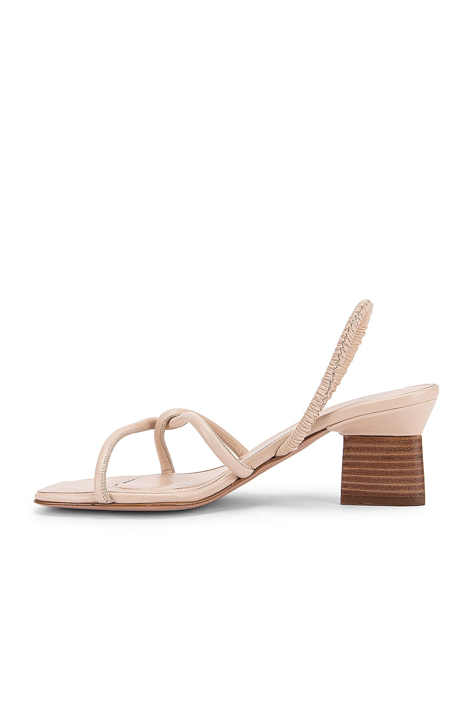Image 5 of Rosetta Getty Strappy Heeled Slingback Sandals in Parchment